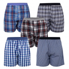 Bộ 5 quần đùi nam mặc nhà boxer pigofashion QDN02 - 2 , màu ngẫu nhiên
