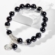 Vòng tay phong thủy 12 cung hoàng đạo đá obsidian charm Ma Kết 8mm mệnh Thủy, Mộc - Ngọc Quý Gemstones