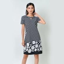Đầm suông thời trang Eden màu đen trắng - D368