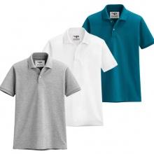 Bộ 3 áo thun nam cổ bẻ chuẩn mọi phong cách pigofashion AB19 trắng, xám, xanh công