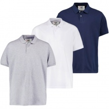 Bộ 3 áo thun nam PiGo big size trên 80kg chất mát cao cấp PB01 xám, trắng, xanh đen