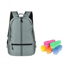 Ba lô Ronal BL85 - Xám sọc đen tặng kèm 1 bàn chải nhựa Ronal đa năng vệ sinh balo hàng ngày