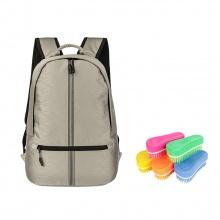 Ba lô Ronal BL85 - Đồng sọc đen tặng kèm 1 bàn chải nhựa Ronal đa năng vệ sinh balo hàng ngày