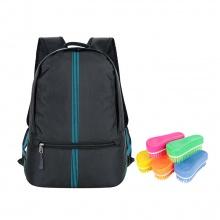 Ba lô Ronal BL85 - Đen sọc xanh biển tặng kèm 1 bàn chải nhựa Ronal đa năng vệ sinh balo hàng ngày