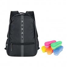 Ba lô Ronal BL85 - đen logo trắng tặng kèm 1 bàn chải nhựa Ronal đa năng vệ sinh balo hàng ngày