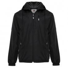 Áo khoác dù nam chống tia UV, chống nước có nón AKD28 PigoFashion màu đen