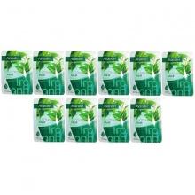 Bộ 10 mặt nạ dưỡng sáng da trà xanh Avander Whitening Mask - Green Tea 25g x 10