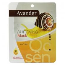 Mặt nạ giấy dưỡng trắng da tinh chất Ốc sên Avander 25g