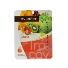 Mặt nạ giấy dưỡng trắng da tinh chất Trái cây tổng hợp Avander 25g x 20