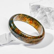 Vòng tay phong thủy đá băng ngọc thủy tảo huyết 55mm mệnh hỏa , mộc - Ngọc Quý Gemstones