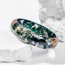 Vòng tay phong thủy đá băng ngọc thủy tảo huyết 58mm mệnh hỏa , mộc - Ngọc Quý Gemstones