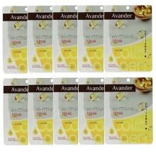 Bộ 10 mặt nạ giấy dưỡng trắng da tinh chất Collagen Avander 25g x 10