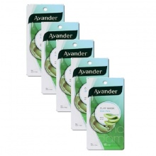 Bộ 5 mặt nạ đất sét Avander Lô Hội  Clay Mask - Aloe Vera 15ml x 5