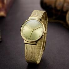 Đồng hồ nữ JA-426 JU1052 Julius Hàn Quốc dây thép - Vàng