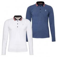 Bộ 2 áo thun nam polo phối bo dài tay chuẩn phong cách Pigofashion PG17 trắng, xanh vịt