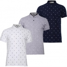 Bộ 3 áo thun nam hoạ tiết mỏ neo phù hợp mọi phong cách Pigofashion  AHT04 xanh đen, xám, trắng