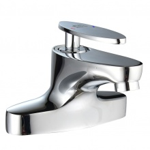 Vòi lavabo nóng lạnh 2 chân đồng mạ Chrome Eurolife EL-CAM03 (Trắng bạc)