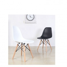 Ghế tối giản kiểu Bắc Âu - trắng