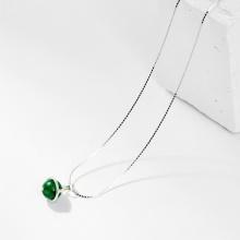 Dây chuyền đá cẩm thạch sơn thủy 1 hạt 8mm - Ngọc Quý Gemstones