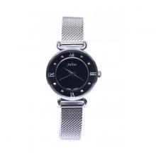 Đồng hồ nữ Julius Hàn Quốc JA-728B ( bạc mặt đen)