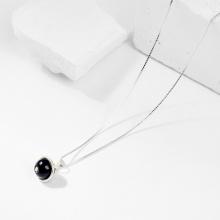 Dây chuyền đá Obsidian 1 hạt 8mm - Ngọc Quý Gemstones