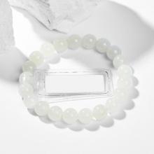 Vòng tay nữ đá bạch ngọc kiểm định liulab 8mm mệnh thủy, kim - Ngọc Quý Gemstones