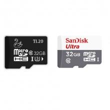 Combo 2 thẻ nhớ JVJ micro SDHC 32G C10 + Thẻ nhớ Sandisk ultra micro SDHC 32GB C10