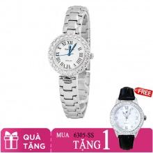 Mua 1 tặng 1- Mua đồng hồ nữ chính hãng Royal Crown 6305 dây thép tặng đồng hồ TATEOSSIAN
