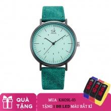 Mua 1 tặng 1- Mua đồng hồ nữ chính hãng Shengke Korea K8020L-03 Xanh lá tặng đồng hồ LED