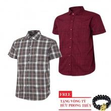 Bộ 2 áo sơ mi ngắn tay sọc caro thời trang SMC2717