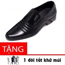 Giày lười công sở nam da bò cao cấp N1621MD Lucacy - tặng tất khử mùi