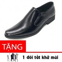 Giày công sở nam da bò nguyên tấm cao cấp N1101MD LUCACY - Tặng tất khử mùi