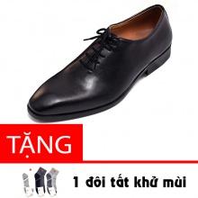 Giày tây nam buộc dây da bò cao cấp N0103B Lucacy-Tặng tất khử mùi