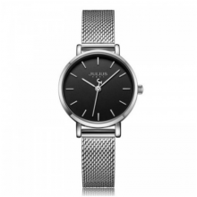 Đồng hồ nữ dây kim loại chính hãng Julius Hàn Quốc JA-1164LB bạc đen