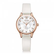 Đồng hồ nữ dây da chính hãng Julius Hàn Quốc JA-1154B (trắng)