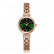 Đồng hồ nữ dây kim loại chính hãng Julius Hàn Quốc JA-1139C đồng mặt xanh
