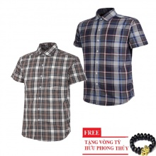 Bộ 2 áo sơ mi ngắn tay sọc caro thời trang SMC2737