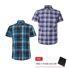 Combo 2 áo sơ mi nam sọc caro Model Fashion cao cấp MSMI3245 (tặng kèm ví nam)