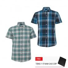 Bộ 2 áo sơ mi ngắn tay sọc caro thời trang SMC2301