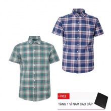 Bộ 2 áo sơ mi ngắn tay sọc caro thời trang SMC2302