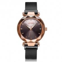 Đồng hồ nữ JA-1166E Julius dây nam châm (đen)