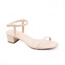 Giày nữ, giày gao gót block heels đế vuông Erosska cao 3cm dây mảnh ET002 (NU)