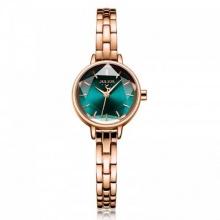 Đồng hồ nữ JA-1162C Julius Hàn Quốc dây thép (đồng xanh)