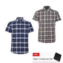 Bộ 2 áo sơ mi ngắn tay sọc caro thời trang SMC2390