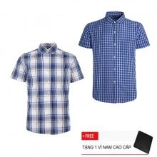 Bộ 2 áo sơ mi ngắn tay sọc caro thời trang SMC2399