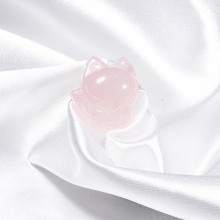 Mặt dây chuyền hồ ly thạch anh hồng baby PD-ROQFB01