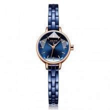 Đồng hồ nữ JA-1162D Julius Hàn Quốc dây thép (xanh)