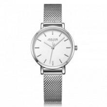 Đồng hồ nữ JA-1164LA Julius Hàn Quốc dây thép (bạc)
