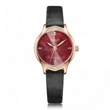 Đồng hồ nữ JA-1155E Julius Hàn Quốc dây da (đen)