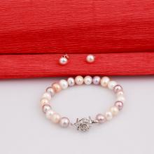 Opal - vòng tay và hoa tai Ngọc trai mix nhiều màu